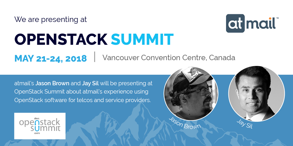 OpenStack Summit Vancouver - meet atmail - email experts - comparing email service providers - email providers