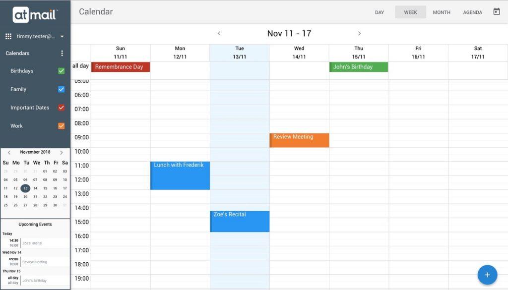 atmail Calendar including Mini-Cal - atmail suite - 8.4.1 product release