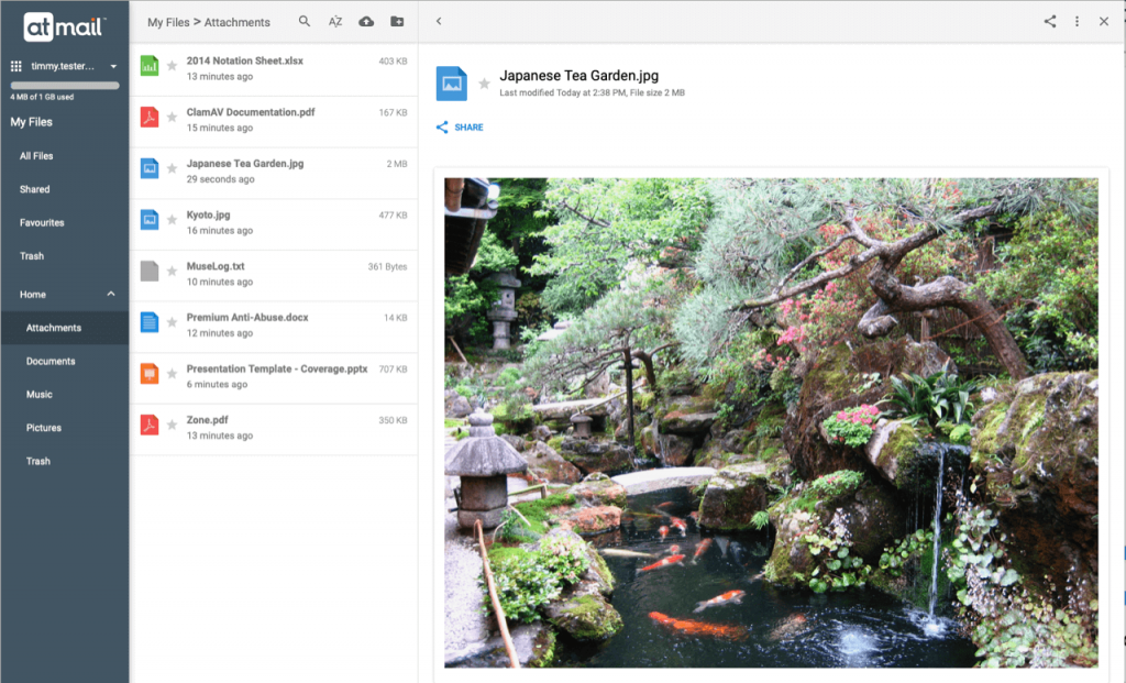 My Files - atmail suite 8.4.1