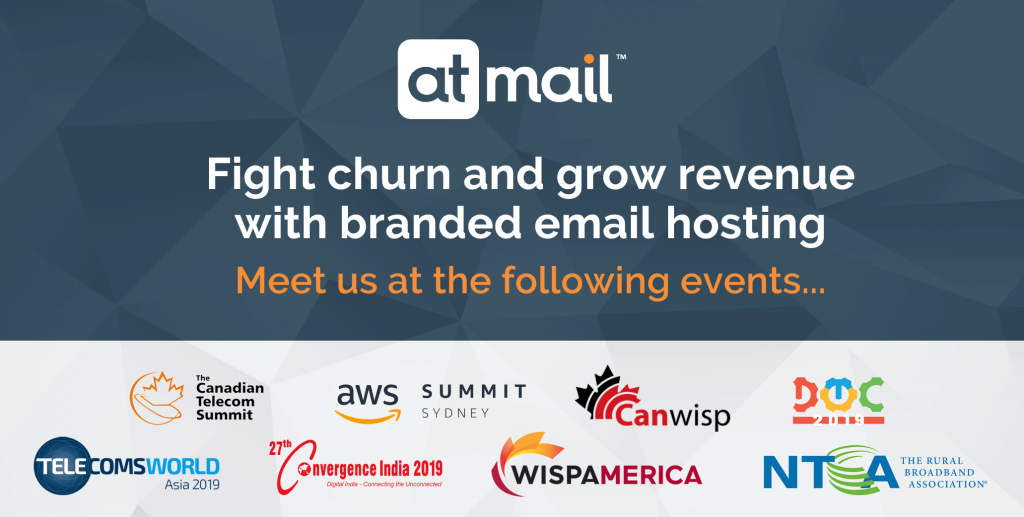 atmail events 2019 - email hosting - telco conferences