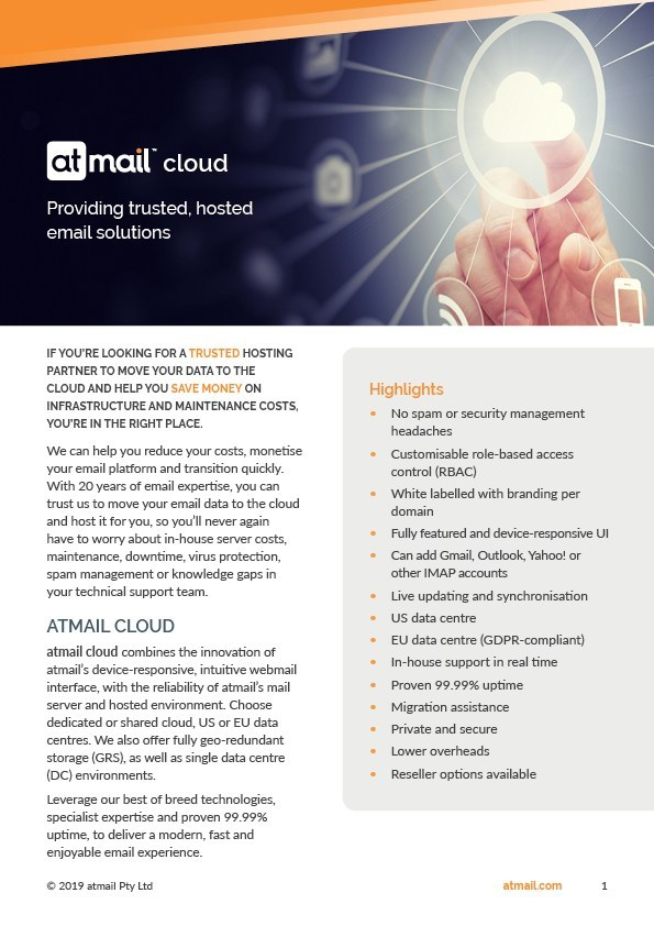 atmail cloud - atmail webmail interface - email service providers - email for telcos