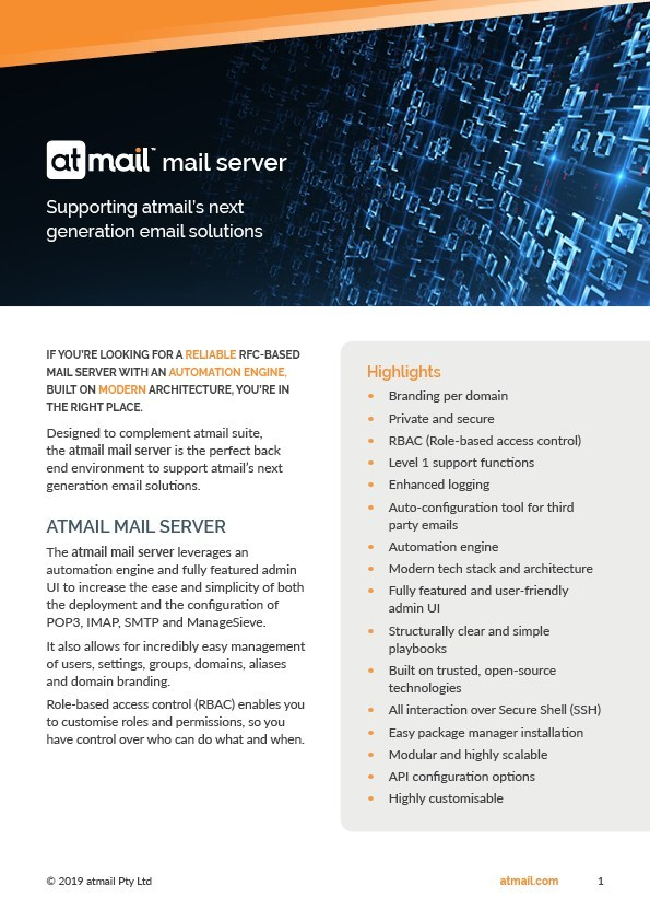atmail mail server - email servers - email service providers - email for telcos