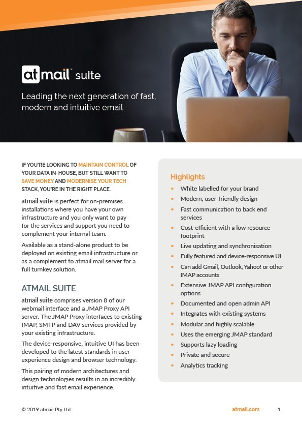 atmail suite - atmail webmail interface - email service providers - email for telcos