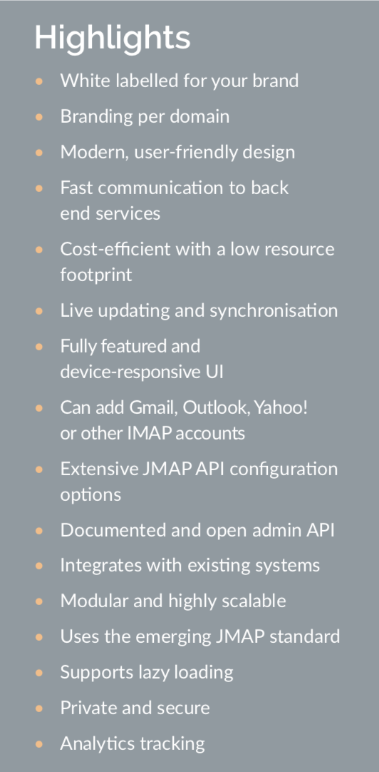 atmail suite highlights NOV2019, atmail solutions guide
