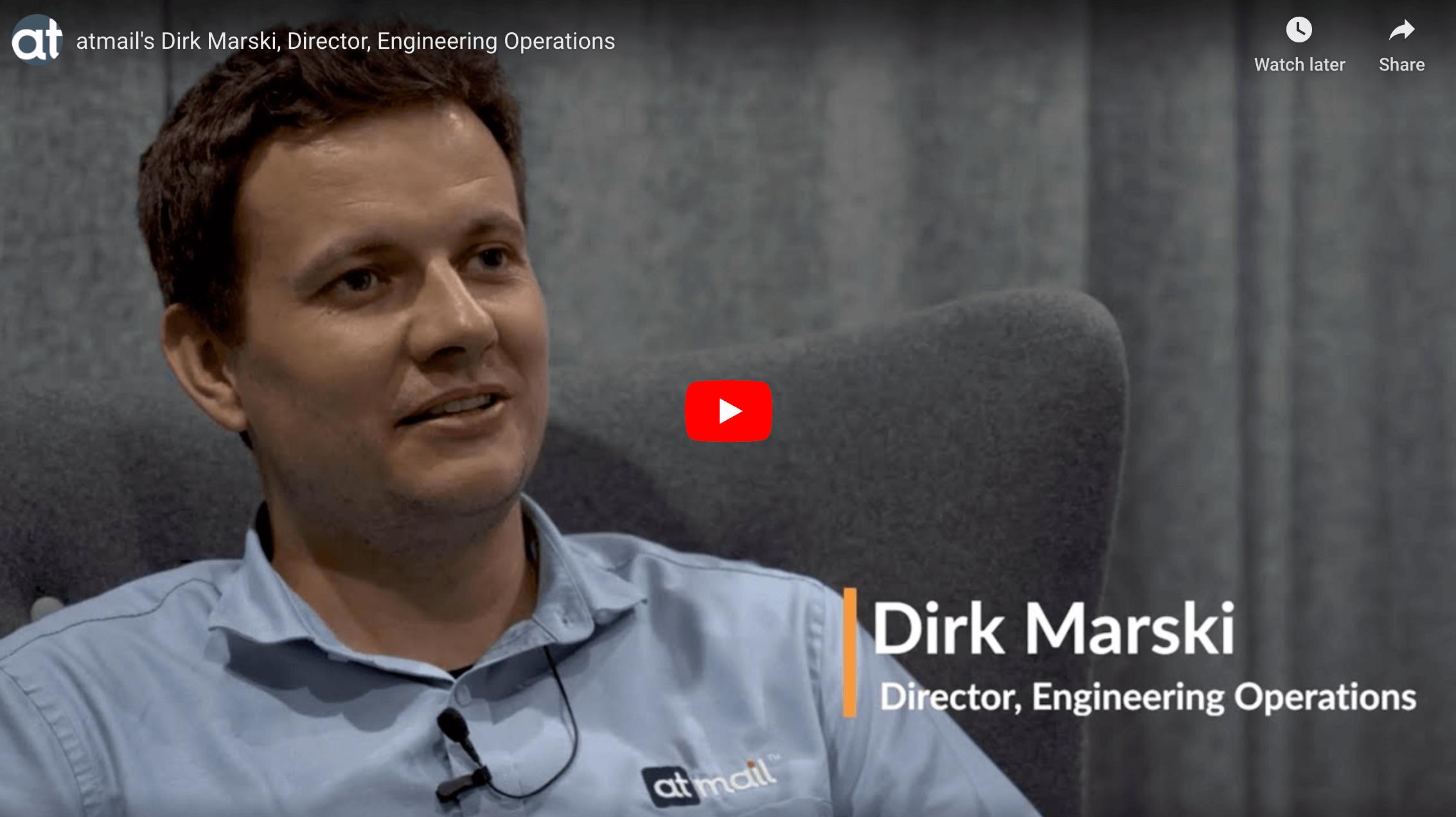 Dirk Marski, atmail, Director, Engineering Operations - atmail cloud email - atmail hosted email - atmail email hosting