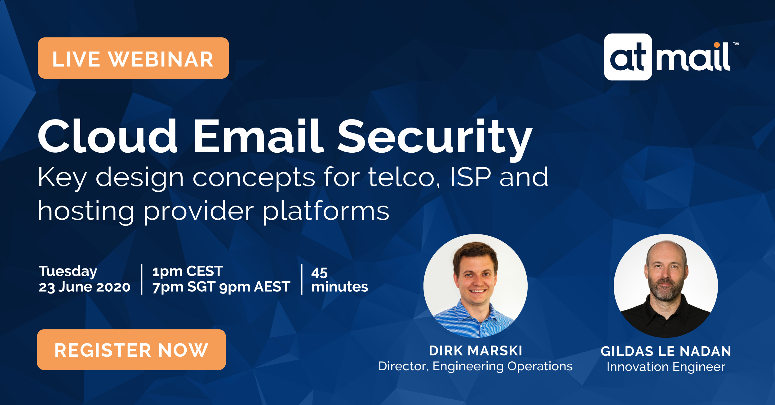 Cloud Email Security - atmail webinar, Dirk Marski, Gildas Le Nadan, cloud hosted email, email hosting for telcos, ISPs and hosting providers