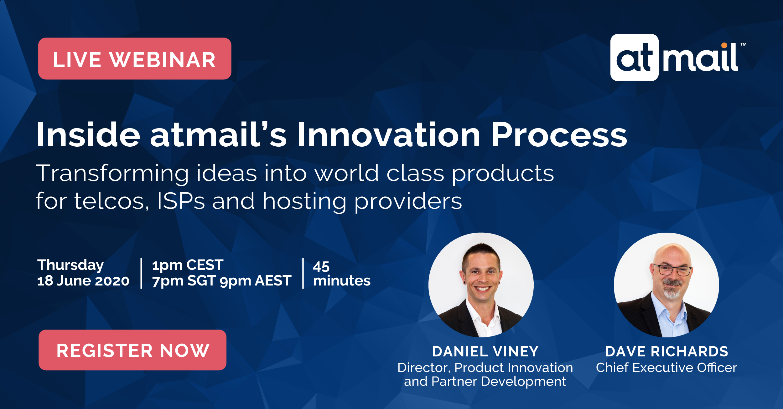 atmail's innovation process, Daniel Viney, Dave Richards, email hosting for telcos, ISPs and hosting providers