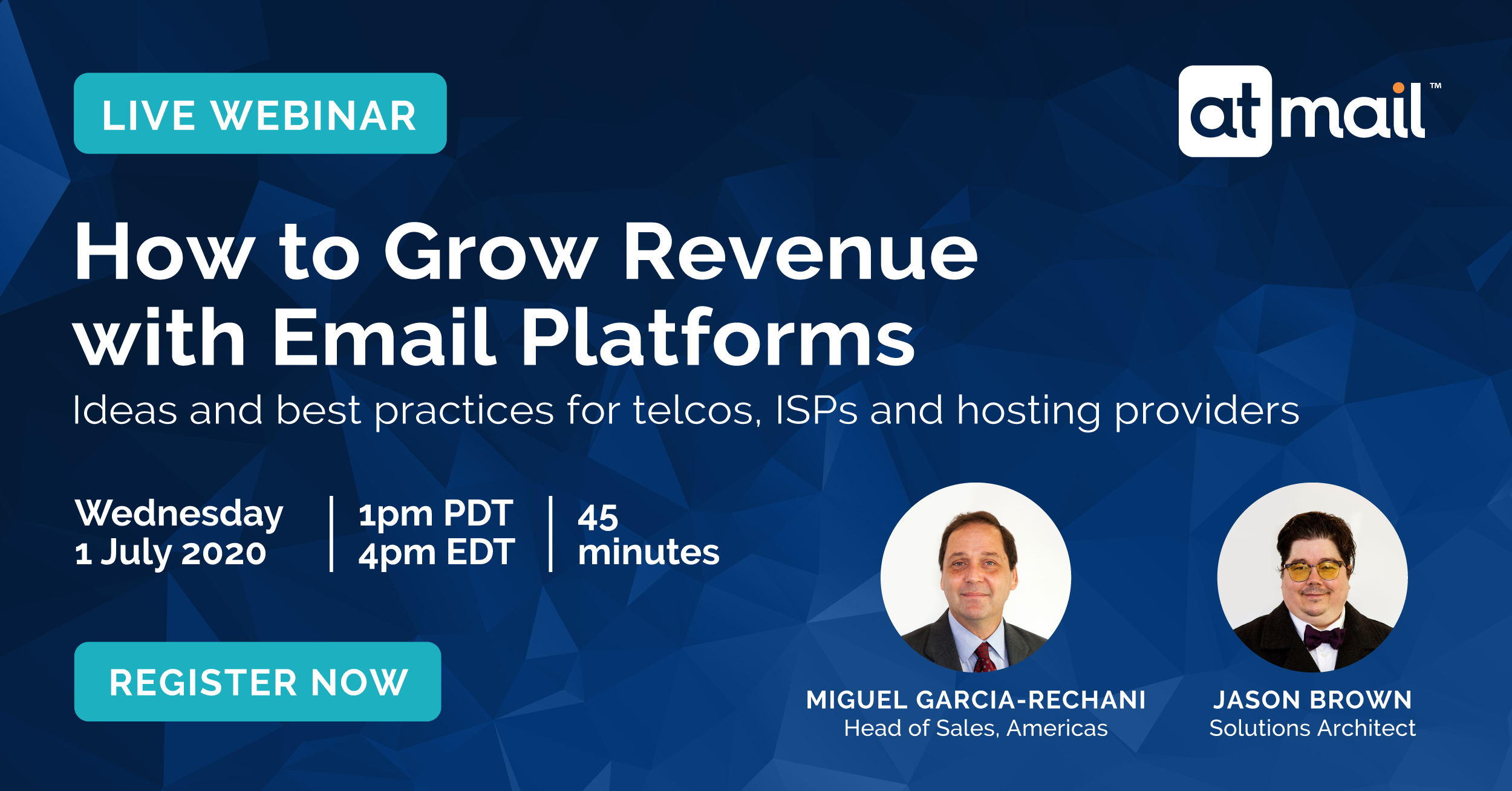 How to Grow Revenue with Email Platforms - Miguel Garcia - Jason Brown - atmail email experts - cloud email hosting for telcos, ISPs and hosting providers