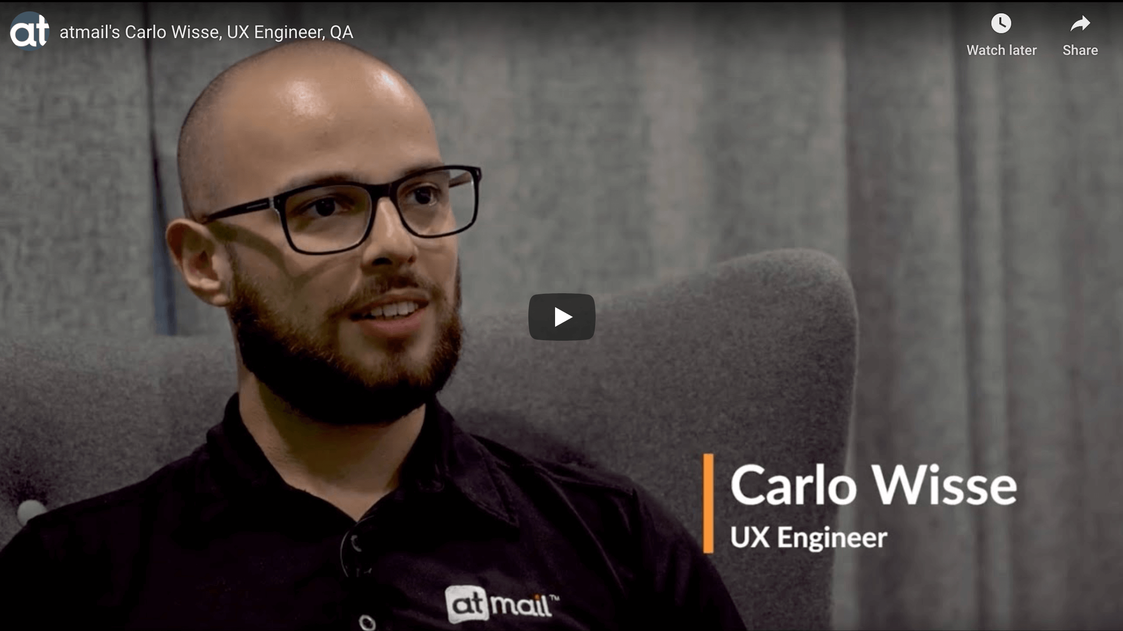 Carlo Wisse - atmail UX engineer - atmail cloud email hosting experts - email UX