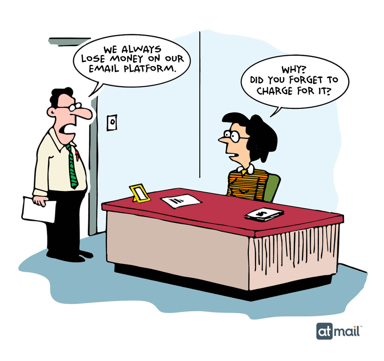 atmail - email pricing - email cartoon - copyright atmail pty ltd 2020