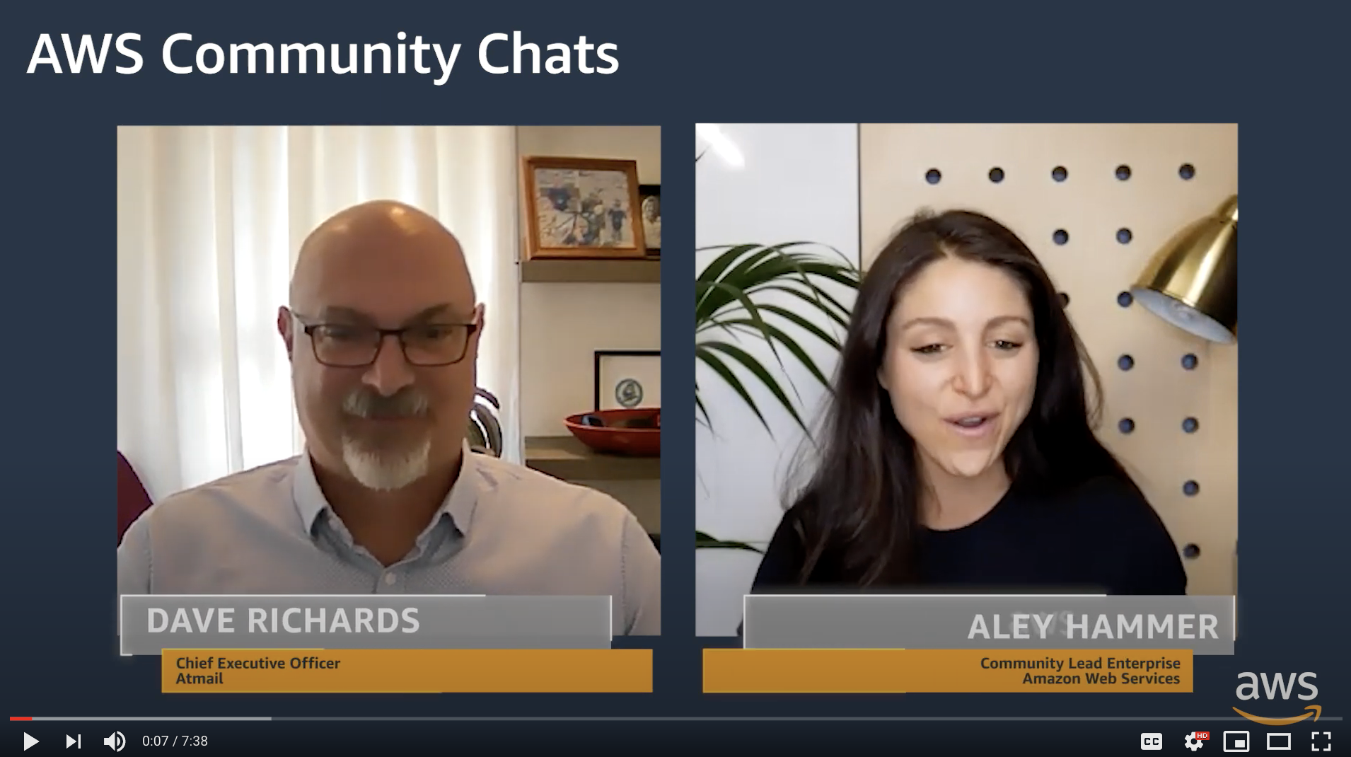 AWS Community Chat - atmail email hosting experts - Dave Richards